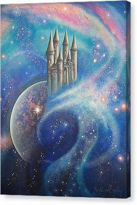 Castle In The Stars Canvas Print