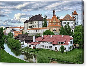 Castle Jindrichuv Hradec View From South West Bohemia Canvas Print by Rindi