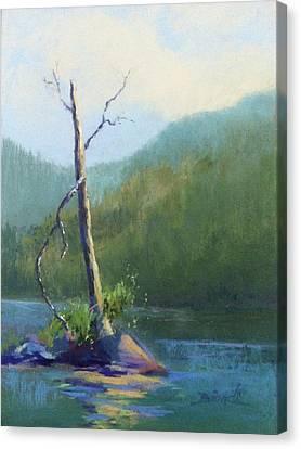 Castle Lake Snag Canvas Print