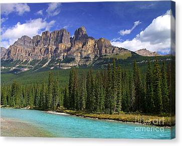 Castle Mountain Banff The Canadian Rockies Canvas Print
