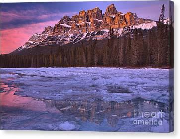 Canvas Print - Castle Mountain Purple Skies by Adam Jewell