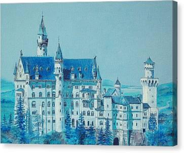 castle Neuswanstein Canvas Print by Radchenko Julia
