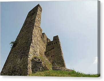Canvas Print featuring the photograph Castle Of Dasburg Near The Ardennes  - Natioanlpark Eifel - Germany by Urft Valley Art