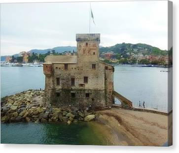 Canvas Print - Castle Of Rapallo by Marilyn Dunlap