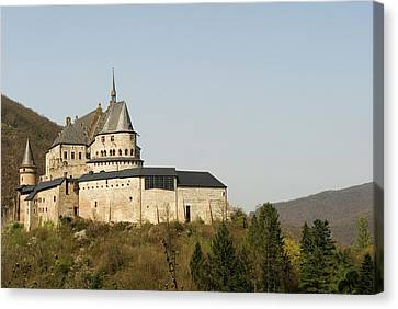 Canvas Print featuring the photograph Castle Of Vianden - Margarete Of Courtenay -  King Philip-augustus - King William Of Holland by Urft Valley Art
