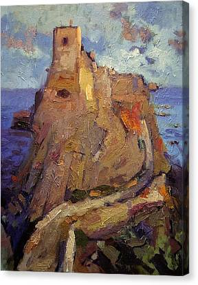 Castle On San Nicola Island Canvas Print by R W Goetting