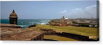 Castle On The Coast, Castillo De San Canvas Print by Panoramic Images
