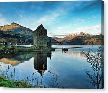 Castle On The Loch Canvas Print by Lynn Bolt