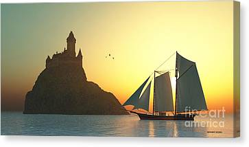 Castle On The Sea Canvas Print by Corey Ford
