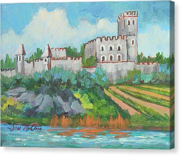 Castle On The Upper Rhine River Canvas Print by Diane McClary