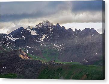 Canvas Print featuring the photograph Castle Peak by Aaron Spong