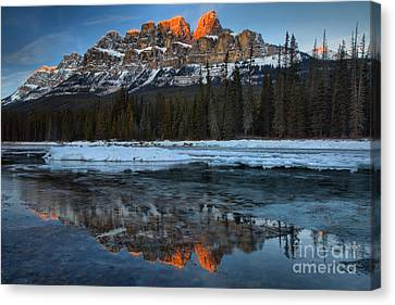 Canvas Print - Castle Red Peak Reflections by Adam Jewell
