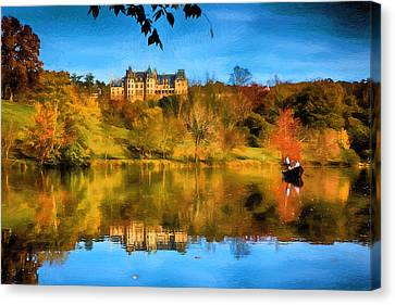 Castle Reflections Of Fall Canvas Print