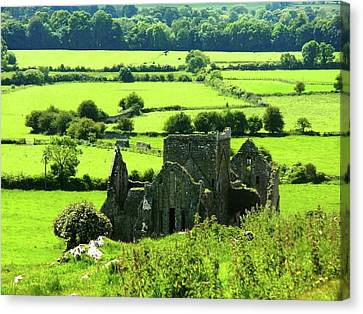 Castle Ruins Countryside Canvas Print