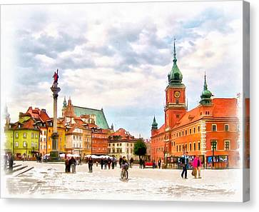 Castle Square, Warsaw Canvas Print by Maciek Froncisz