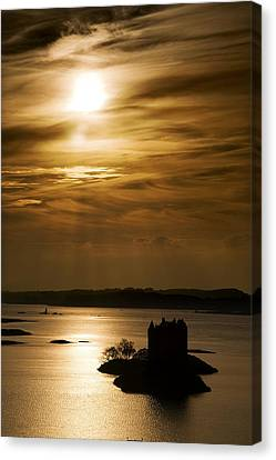 Castle Stalker At Sunset, Loch Laich Canvas Print by John Short
