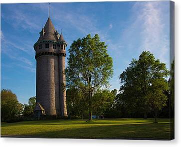Castle Turret On The Green Canvas Print