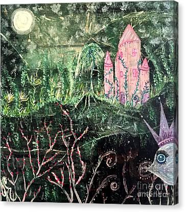 Castle Wisteria Canvas Print by Julie Engelhardt