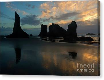 Canvas Print featuring the photograph Castles In The Sand by Mike Dawson