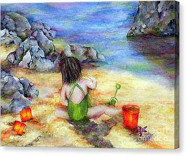 Castles In The Sand Canvas Print by Winona Steunenberg