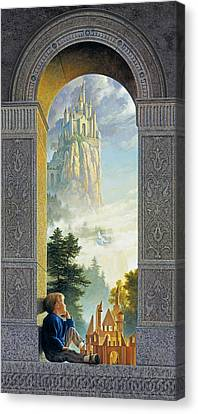 Blonde Canvas Print - Castles In The Sky by Greg Olsen