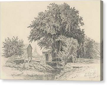 Castleton, Vermont, 1871 Canvas Print