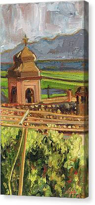 Castrocielo Bell Tower Canvas Print by Jennie Traill Schaeffer