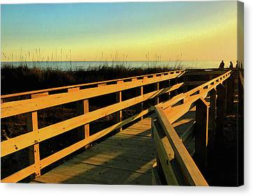 Caswell Sunset Canvas Print