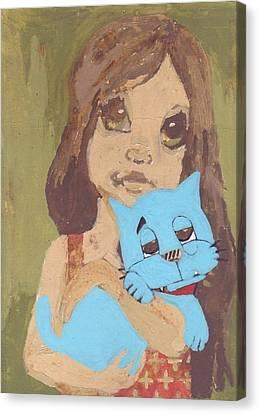 Spirit Cat Essence Canvas Print - Cat 1 by William Douglas