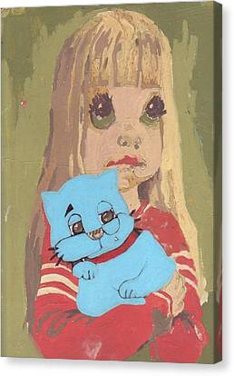 Spirit Cat Essence Canvas Print - Cat 2 by William Douglas