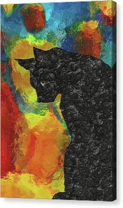 Bobcat Kittens Canvas Print - Cat Abstract by Jack Zulli