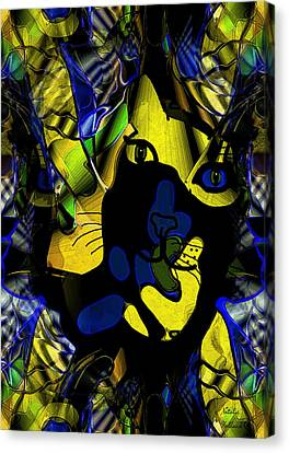 Cat Abstract Canvas Print