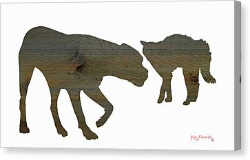Cat And Dog 2 Canvas Print