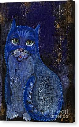 Cat And Reiki 2015 03 25 Canvas Print by Angel  Tarantella