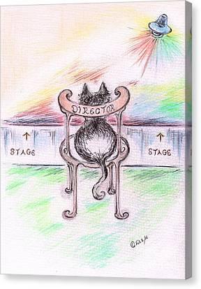 Cat- Director  Canvas Print