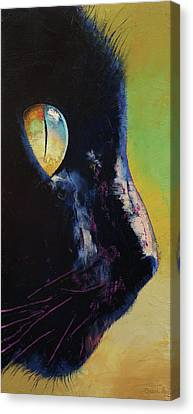 Chat Canvas Print - Cat Eye by Michael Creese