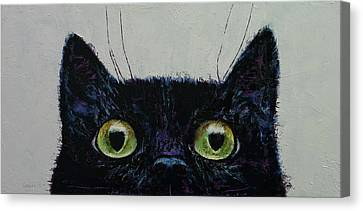 Profile Canvas Print - Cat Eyes by Michael Creese
