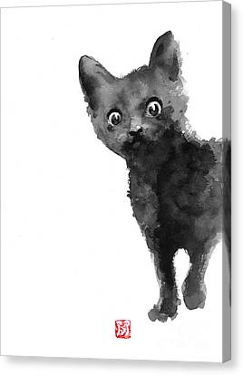 Cat Illustration Watercolor Painting Canvas Print