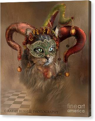 Cat In A Hat Canvas Print
