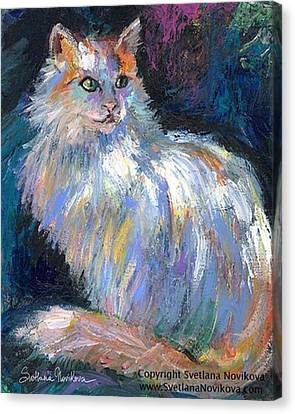 Canvas Print - Cat In A Sun Painting By Svetlana by Svetlana Novikova