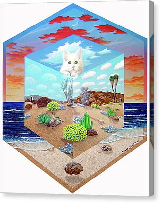 Cat In The Box Canvas Print by Snake Jagger