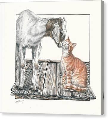 Cat Kiss Canvas Print