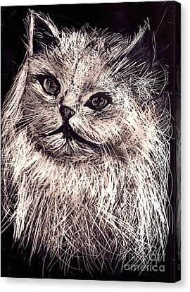 Cat Life Canvas Print by Leonor Shuber