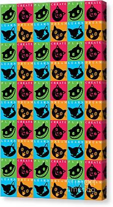 Cat Mode Canvas Print by Naviblue