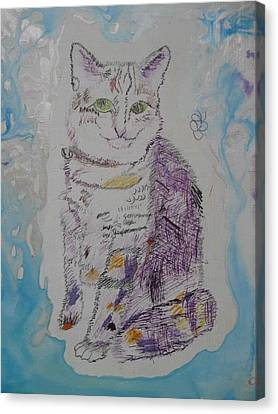 Canvas Print featuring the painting Cat Named Jade by AJ Brown