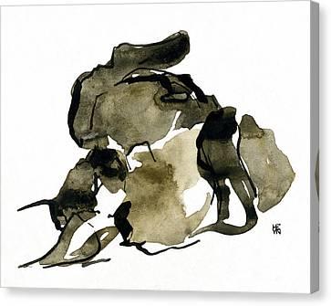 Cat Nap - 2 Canvas Print