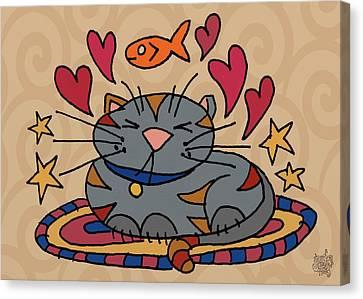 Cat Nap Canvas Print by Jennifer Heath Henry