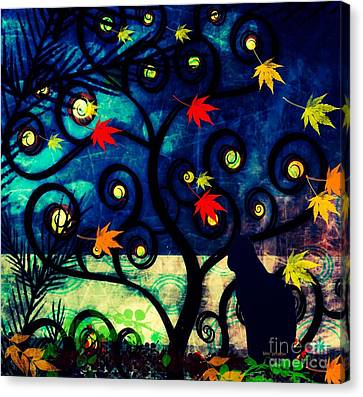 Cat Watch  Canvas Print