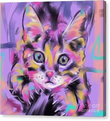 Cat Wild Thing Canvas Print