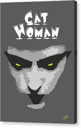 Cat Woman Canvas Print by Joaquin Abella